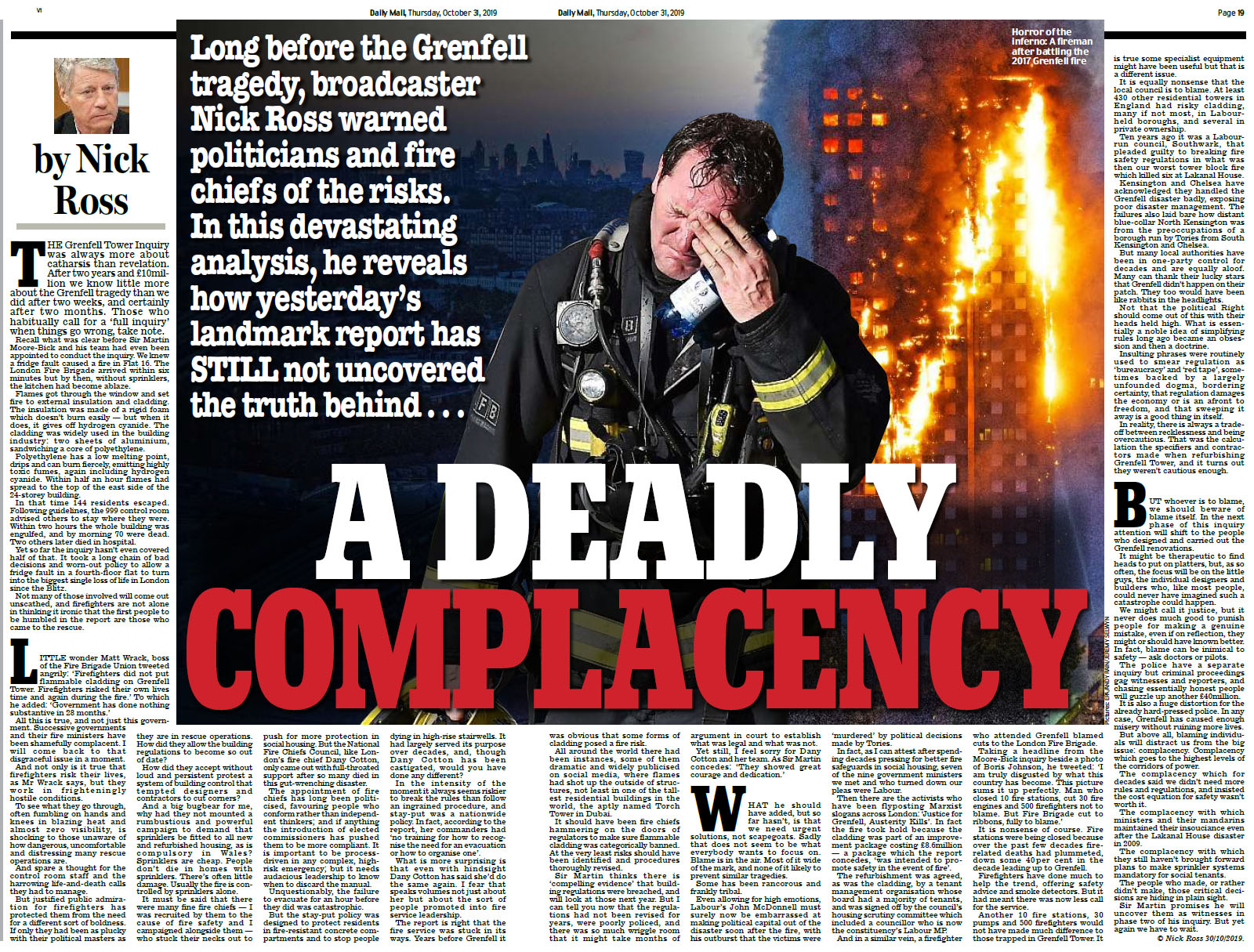 Daily Mail - A Deadly Complacency