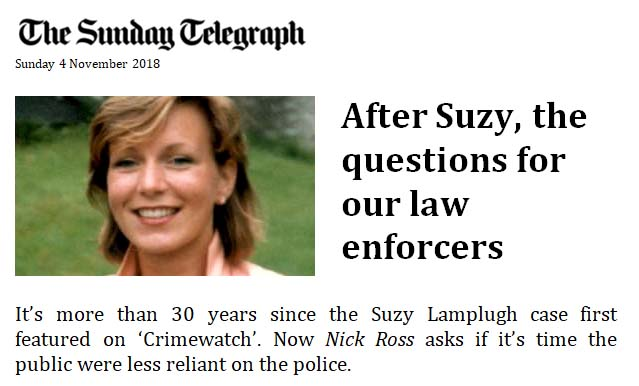 The Sunday Telegraph - After Suzy, the questions for our law enforcers