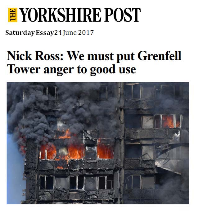 The Yorkshire Post - We must put Grenfell Tower anger to good use